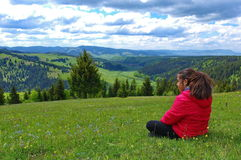 Freedom in the mountains stock photography