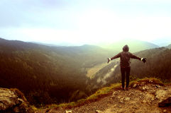 Freedom in mountains. Royalty Free Stock Photos