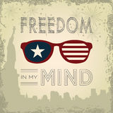 Freedom in my mind concept for Independence Day Royalty Free Stock Photos