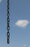 Freedom, opened chain and blue sky Stock Photo