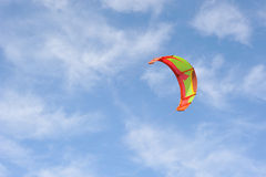 Freedom. Parachute on the sky. Royalty Free Stock Photography