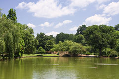 Freedom Park Bridge. The Bridge at Freedom Park in Charlotte, NC in Summer stock photos