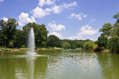 Freedom Park in the Summer. Freedom Park in Charlotte, NC in Summer with the Fountain Royalty Free Stock Photos