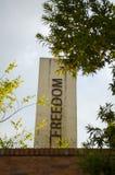 Freedom pillar at the Apartheid museum stock images