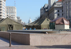 Freedom Plaza on Presidents' Day 2012 Stock Images