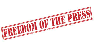 Freedom of the press red stamp Royalty Free Stock Photography