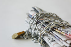 Freedom of press. In some countries press is under pressure and not free Stock Photo