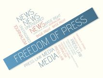 FREEDOM OF PRESS - word cloud Stock Photos