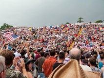 Freedom Rally Crowd Royalty Free Stock Images