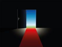 Freedom Red Carpet Open Door Stock Image