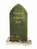 Freedom RIP. Freedom of Speech Dies (R.I.P Royalty Free Stock Image