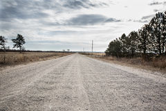 Freedom road. Cloudy cold winter day in the road Stock Photography