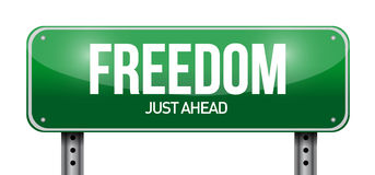 Freedom road sign illustration design Stock Images