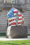 Freedom rock, Newton, Iowa Stock Photo