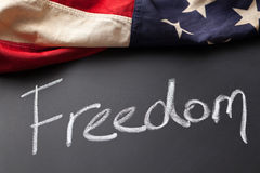 Freedom sign stock image