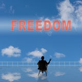 Freedom sign Stock Images