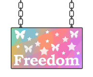 Freedom Signboard Royalty Free Stock Photography