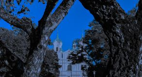 Freedom somewhere close. This Church is a great value for the small town of Grodno royalty free stock image