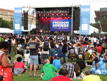 Freedom Sounds Stage Stock Images