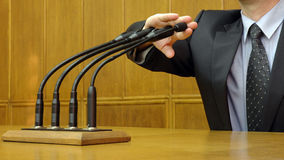 Freedom of speech. Politician is giving statment , Politician's Speeches Royalty Free Stock Image