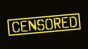 Freedom of speech and censorship Royalty Free Stock Image