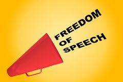 Freedom of Speech concept Stock Images