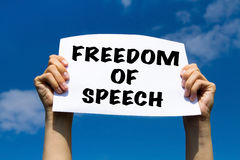 Freedom of speech. Concept, politics Stock Photo