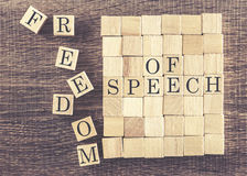 Freedom of Speech message Stock Photo