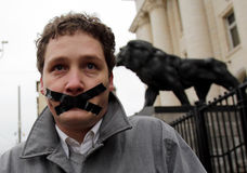 Freedom of speech protester Stock Photos