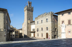 Freedom square arezzo tuscan italy europe Royalty Free Stock Photos