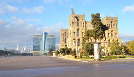 Freedom square in Baku. Azerbaijan Royalty Free Stock Photography