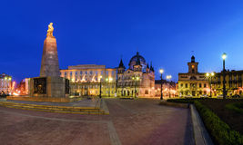 Freedom Square in Lodz in the evening. Royalty Free Stock Photo