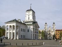 Freedom Square in Minsk Stock Images