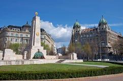 Freedom square monument, Budapest, Hungary Royalty Free Stock Photo
