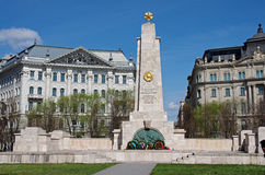 Freedom square monument, Budapest, Hungary Royalty Free Stock Photo