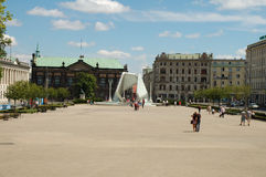 Freedom square in Poznan, Poland Stock Images
