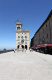 Freedom Square and the Statue of Liberty. San Marino Royalty Free Stock Images