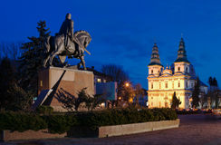 Freedom Square in Ternopil (Ukraine) Royalty Free Stock Photography