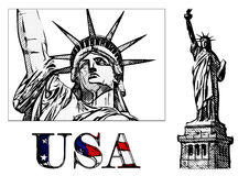 Freedom statue illustration Royalty Free Stock Image