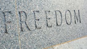 Freedom in Stone Stock Photography