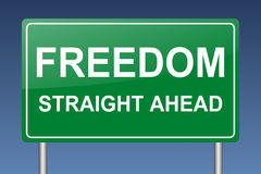 Freedom straight ahead Royalty Free Stock Photography