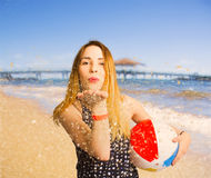 Freedom in summer vacation Royalty Free Stock Photo