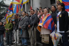 Freedom for Tibet Rally Stock Photography