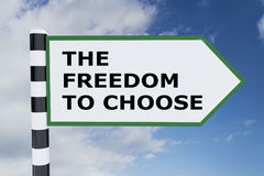 The Freedom To Choose concept Stock Photo