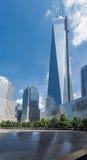 Freedom Tower Één Stad van World Trade Center Herdenkingsnew york Stock Foto