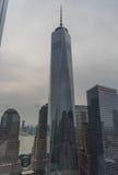 Freedom Tower bij schemer royalty-vrije stock foto's