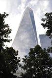 Freedom Tower byggnad från Manhattan i New York City USA Arkivbild