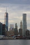 Freedom Tower Construction and Beekman Tower Stock Photo