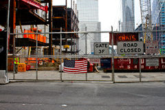 Freedom Tower Construction, Ground Zero Stock Images