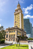 Freedom Tower at daylight with memorial. MIAMI, USA - AUG 29, 2014: Freedom Tower at daylight. As a memorial to Cuban immigration and Miami city landmark, it is Stock Photography